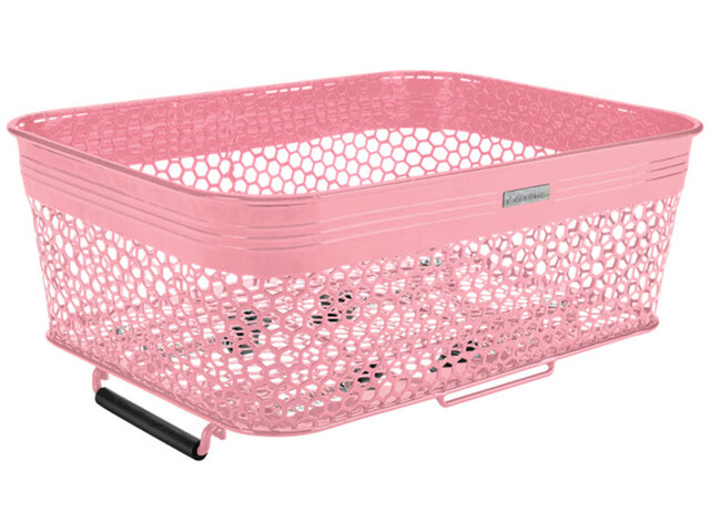 Electra Linear QR Mesh Basket Low Profile with Net, light pink